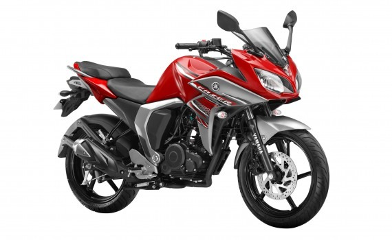 Yamaha Fazer FI Volcano Red colour option
