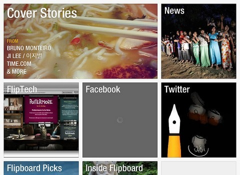 Flipboard app for smartphones