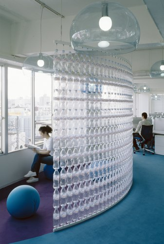 Walls made out of plastic bottles