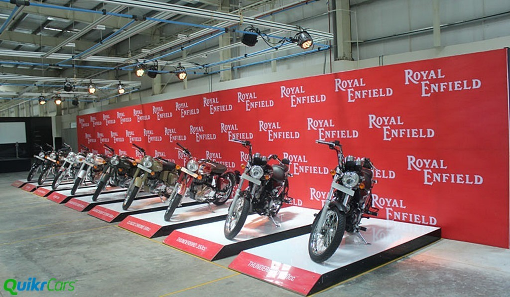 Royal Enfield line up