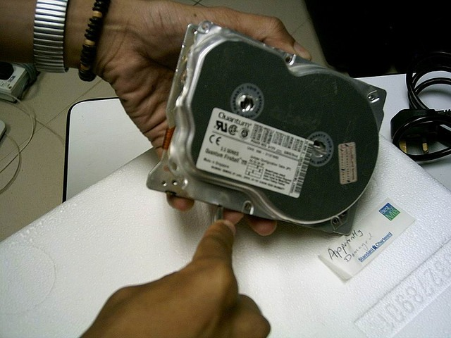 Buy second hand hard disks