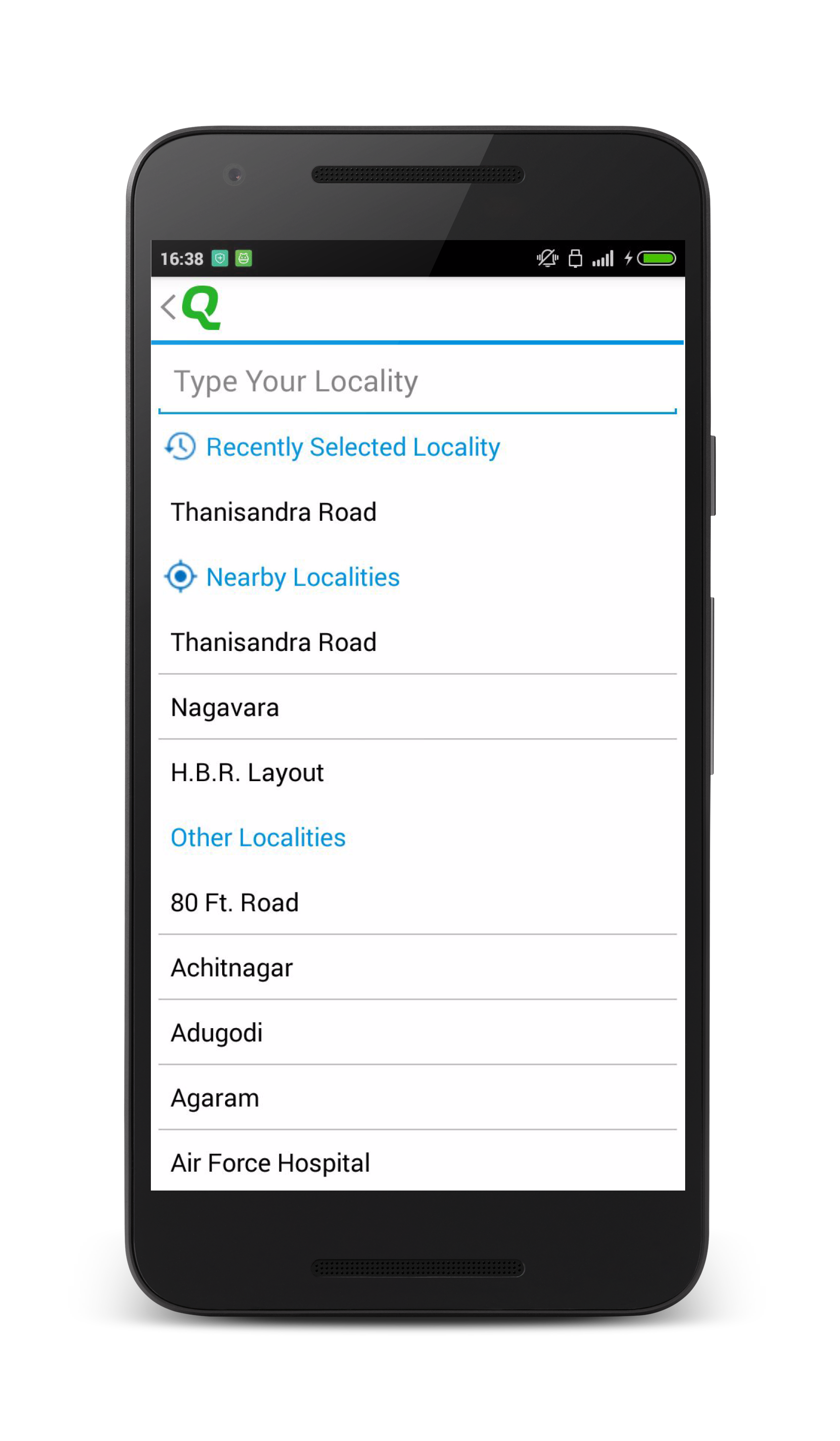 Nearby Locality Feature in Quikr App