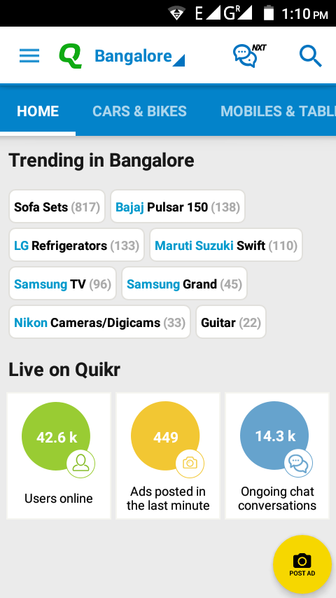 What's trending in Bangalore?