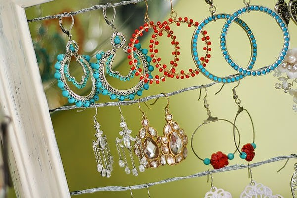 Build your own chic earring holder.